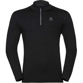 Odlo SUW Natural Bluza z zamkiem błyskawicznym Mężczyźni, black/black